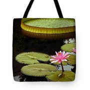 Waterlilies And Platters Vertical Romance Tote Bag