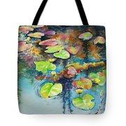 Waterlilies In Shadow Tote Bag