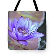 Waterlily And Bee Tote Bag