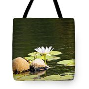 Waterlily And Coconuts Tote Bag
