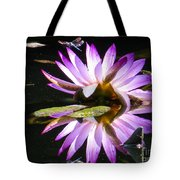 Waterlily And Dragonfly Tote Bag