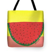 Watermelon 1 Tote Bag by Beth  Cornell