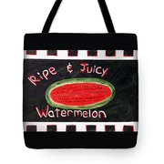 Watermelon Market Sign Tote Bag