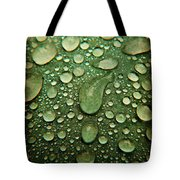 Raindrops On Watermelon Rind Tote Bag