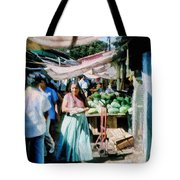 Watermelons At The Market Tote Bag