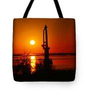 Waterpump In The Sunrise Tote Bag by Jeff Swan