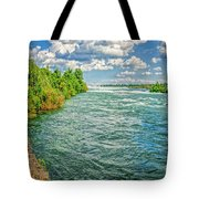 Waters Feeding Niagara Falls Tote Bag