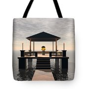 Waterside Gazebo Tote Bag