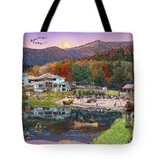 Waterville Estates In Autumn Tote Bag by Nancy Griswold