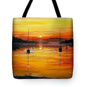 Watery Sunset At Bala Lake Tote Bag