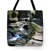 Watkins Glen State Park Tote Bag by Frozen in Time Fine Art Photography