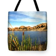 Watson Lake Tote Bag by Kurt Van Wagner