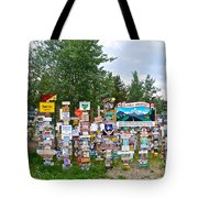 Watson Lake Sign Forest Along Alaska Highway In  Yukon-canada Tote Bag
