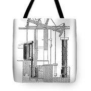 Watts Steam Engine, 1769 Tote Bag