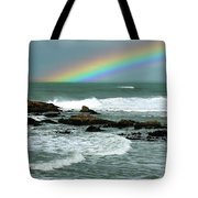 Wave And A Rainbow Tote Bag