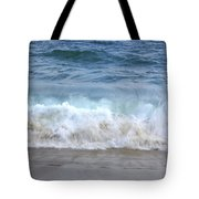 Wave Crashing On The Beach Tote Bag