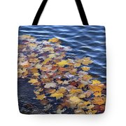 Wave Of Fall Leaves Tote Bag