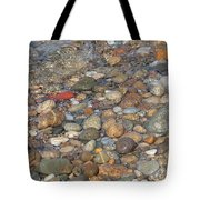 Wave Over Beautiful Rocks Tote Bag
