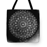 Wave Particle Duality Black White Tote Bag