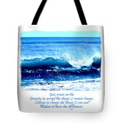 Wave Serenity Prayer Tote Bag