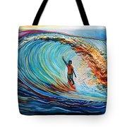 Wave Surfer Tote Bag