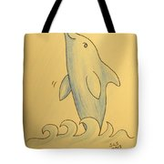 Wave The Suzuki Dolphin Tote Bag by Sheri Lauren Schmidt