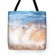 Wave Up Close Tote Bag