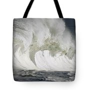 Wave Whitewash Tote Bag