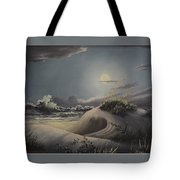 Waves And  Moonlight Tote Bag