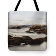 Waves And Rocks Tote Bag