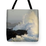 Waves At Salt Point Tote Bag