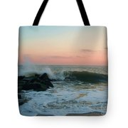 Waves At The Point West Cape May Nj Tote Bag