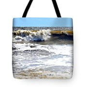 Waves At Tybee Tote Bag