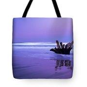 Waves Break On The Beach At Dawn Tote Bag