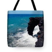 Waves Breaking On Rocks, Hawaii Tote Bag