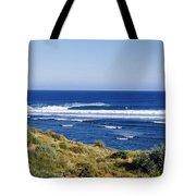 Waves Breaking On The Beach, Western Tote Bag