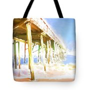 Waves By The Pier Tote Bag