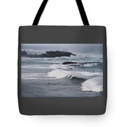 Powerful Waves Coming Ashore In San Juan # 1 Tote Bag