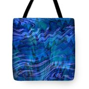 Waves Of Blue - Abstract Art Tote Bag