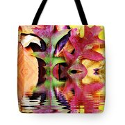 Waves Of Color Tote Bag by Judy Palkimas