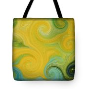 Waves Of Gold Tote Bag
