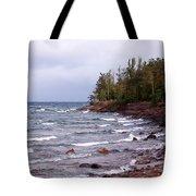 Waves Of Lake Superior Tote Bag