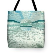 Waves Of Reflection Tote Bag