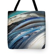 Textured Waves Of Blue Tote Bag
