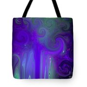 Waves Of Violet - Abstract Tote Bag