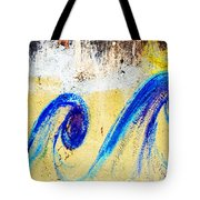 Waves On A Wall Tote Bag