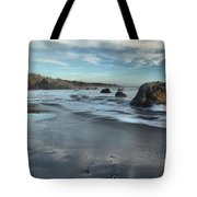 Waves On The Rocks Tote Bag