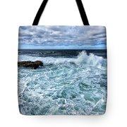Waves To Rocks Tote Bag