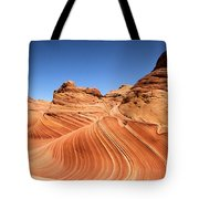 Waves Under Buttes Tote Bag