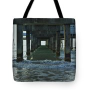 Waves Under The Clearwater Pier 60 Tote Bag